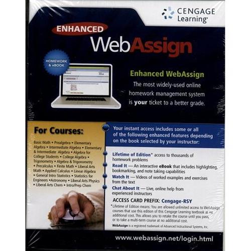 Booksmart enhanced webassign access code 6 months for calculus booksmart enhanced webassign access code 6 months for calculus physics chemistry fandeluxe Images
